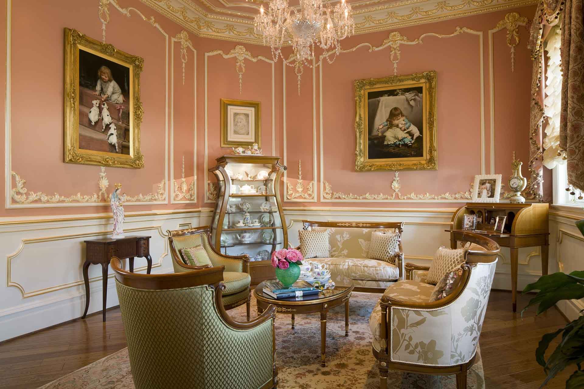 Classical design Tea room in mansion of luxury residence in Potomac, Maryland