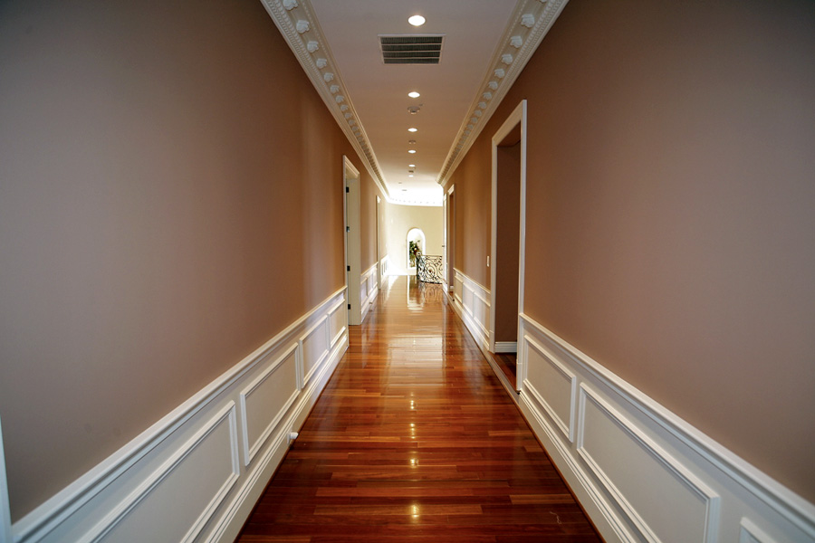 Hallway in Mansion in Potomac, Maryland