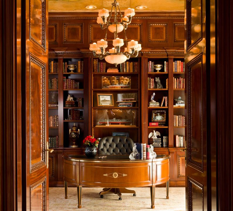 Home office in Luxury residence in Potomac, Maryland