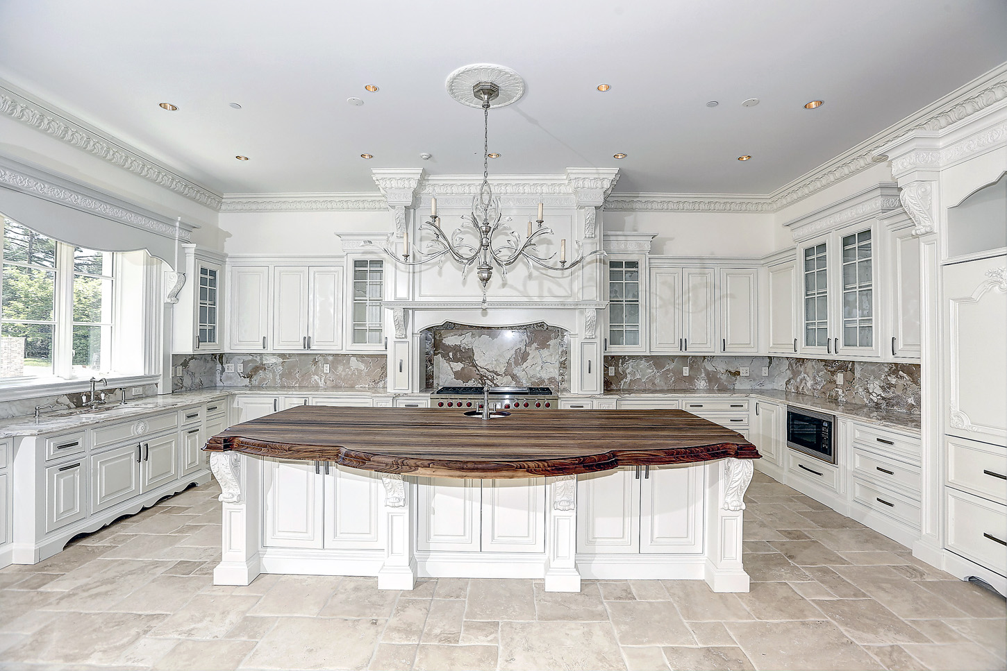 Natural and Luxury Kitchen with custom cabinetry