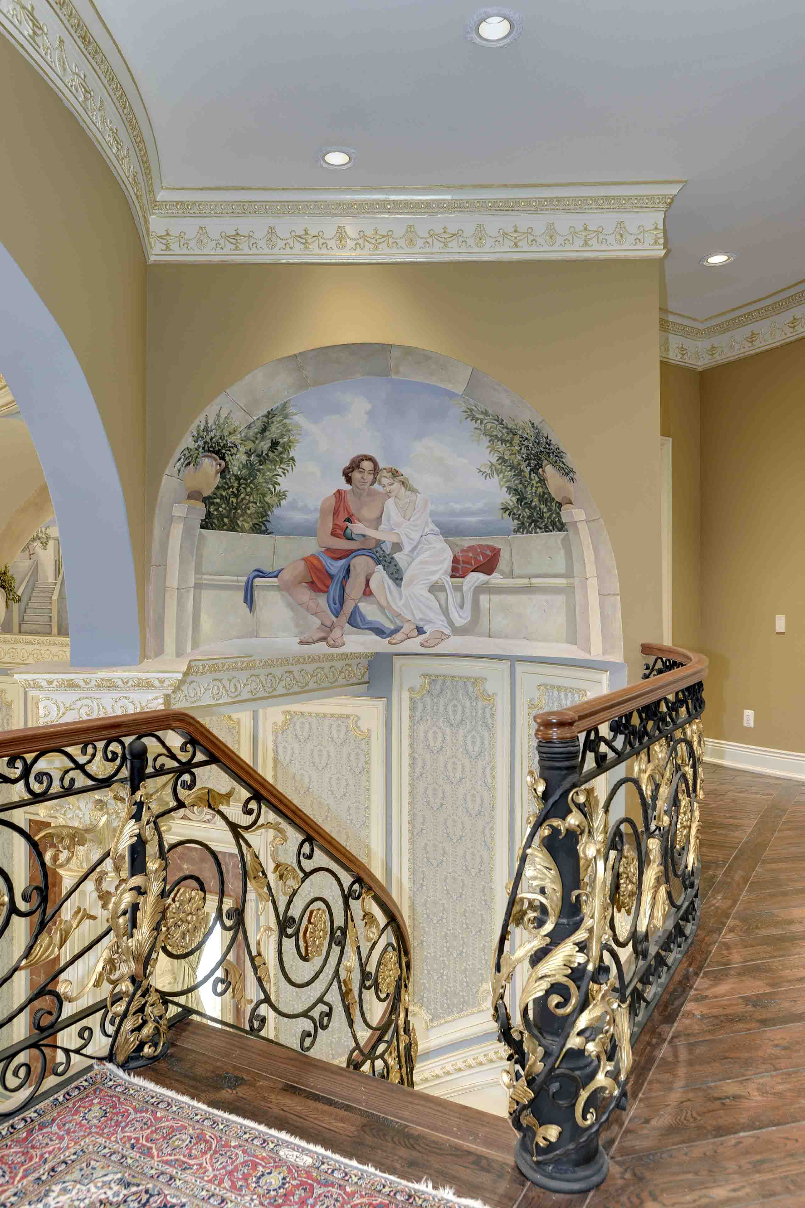 Murals painted in dome of mansion in Potomac, Maryland