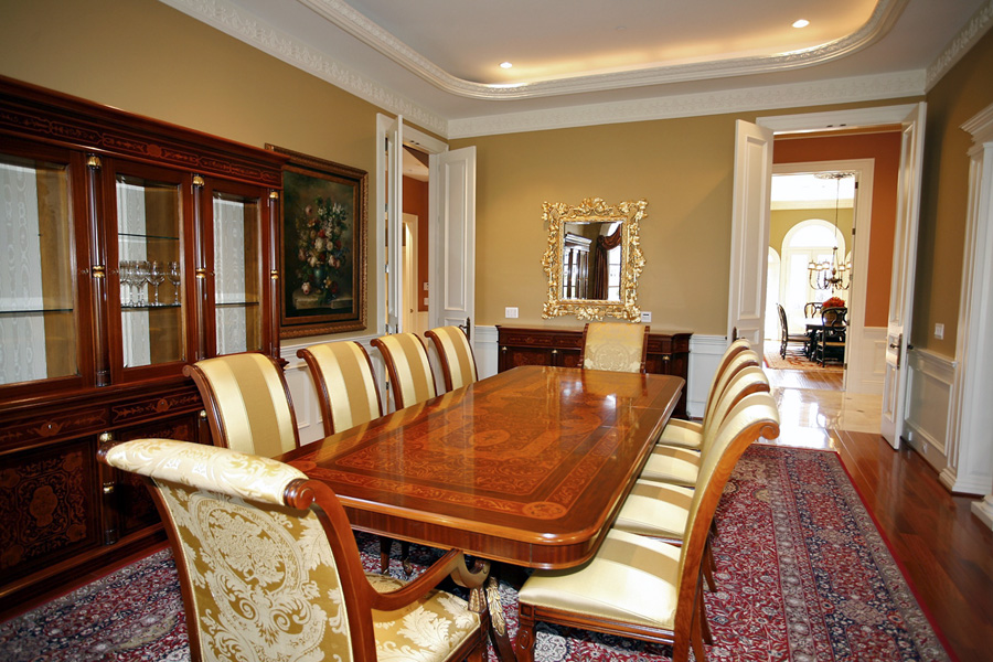 Custom Dining room in mansion in Potomac, Maryland