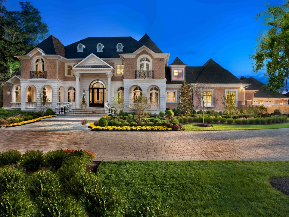Exterior of Dream House, Mansion with circular driveway