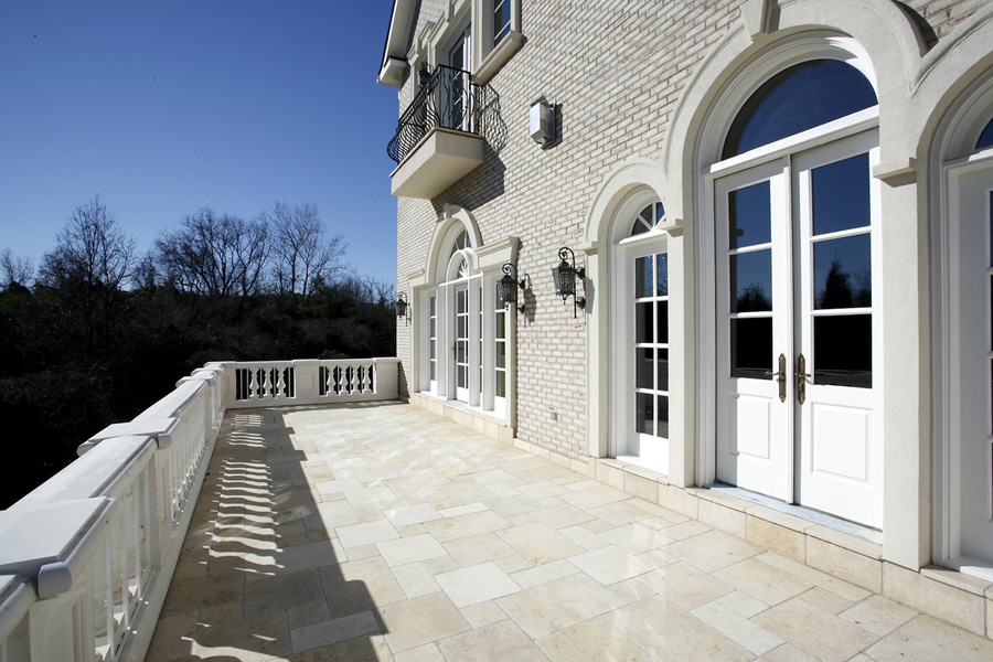 Master patio in mansion in Potomac, Maryland