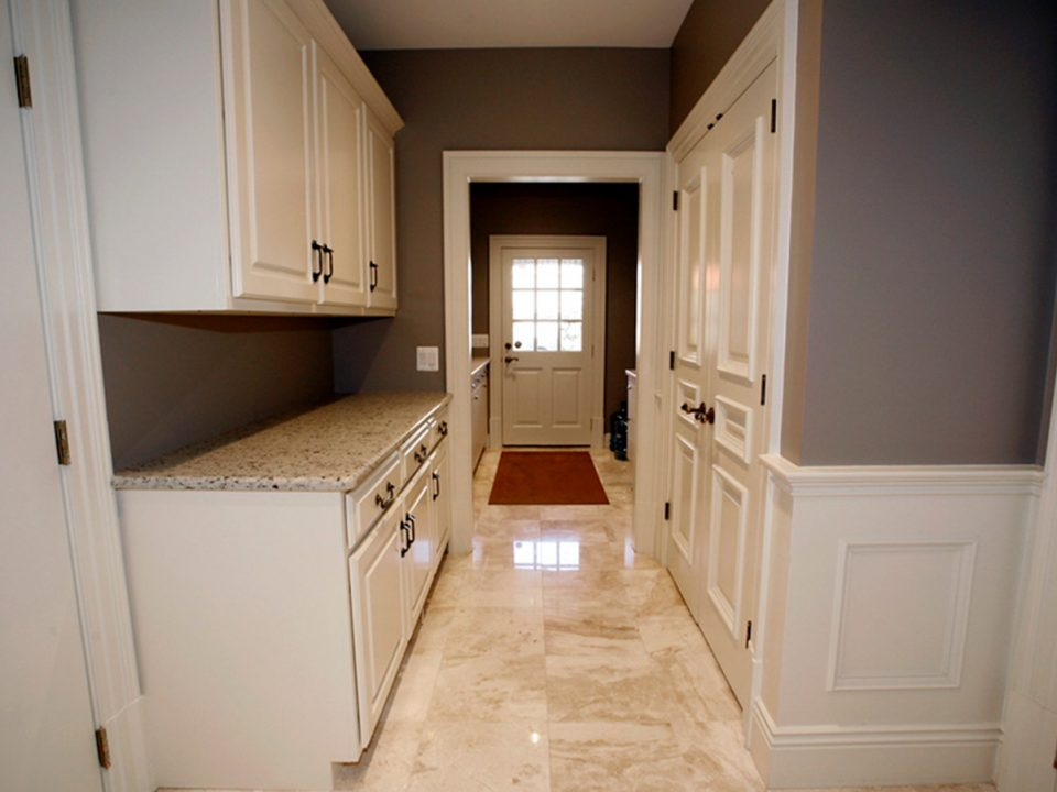 Custom laundry room in mansion in Potomac, Maryland